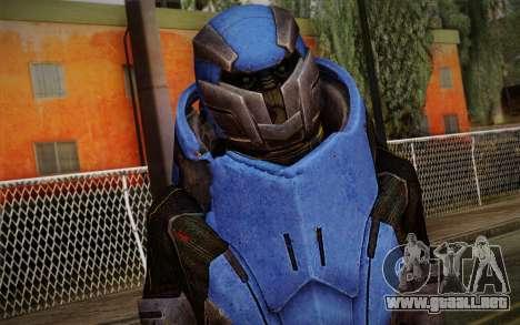 Garrus Helmet from Mass Effect 2 para GTA San Andreas tercera pantalla