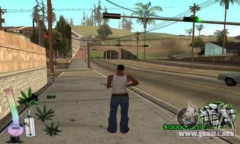 C-HUD Canabis para GTA San Andreas segunda pantalla