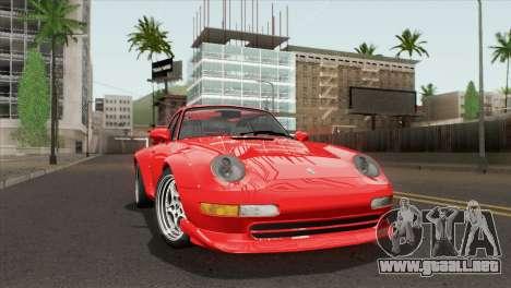 Porsche 911 GT2 (993) 1995 [HQLM] para GTA San Andreas vista posterior izquierda