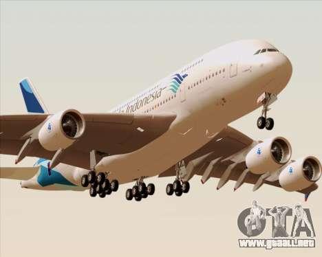 Airbus A380-800 Garuda Indonesia para el motor de GTA San Andreas