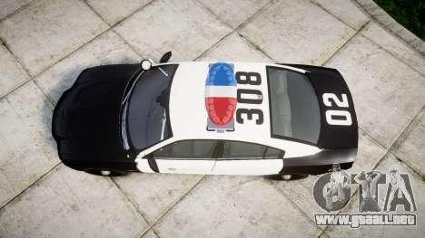 Dodge Charger 2013 LAPD [ELS] para GTA 4 visión correcta