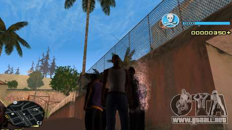 C-HUD Blue para GTA San Andreas