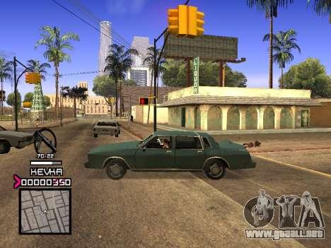 C-HUD by Kevka para GTA San Andreas segunda pantalla