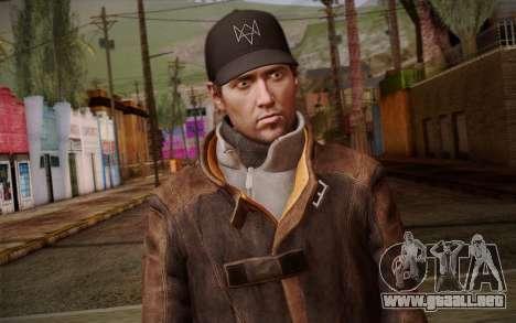 Aiden Pearce from Watch Dogs v10 para GTA San Andreas tercera pantalla