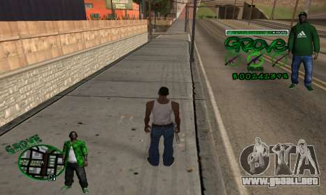 C-HUD Groove para GTA San Andreas segunda pantalla