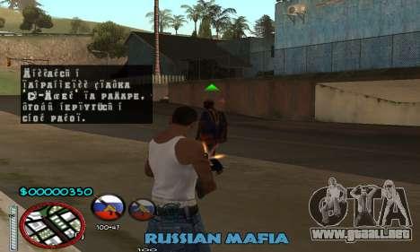 C-HUD Russian Mafia para GTA San Andreas tercera pantalla