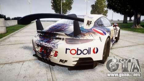 RUF RGT-8 GT3 [RIV] RobOil para GTA 4 Vista posterior izquierda