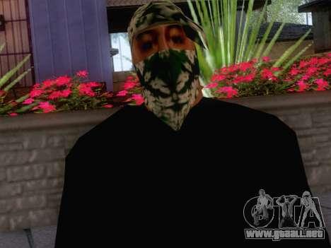 New Ballas Skin 1 para GTA San Andreas tercera pantalla