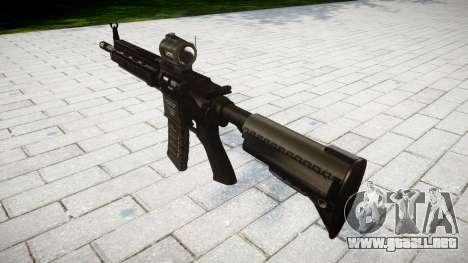 Máquina HK416 AR destino para GTA 4 segundos de pantalla