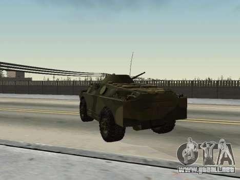 BRDM 2 para GTA San Andreas vista hacia atrás