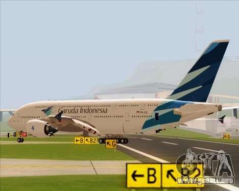 Airbus A380-800 Garuda Indonesia para GTA San Andreas left