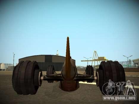 Rustler Varilla Beta para GTA San Andreas vista hacia atrás