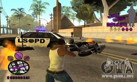 C-HUD Ballas para GTA San Andreas sucesivamente de pantalla