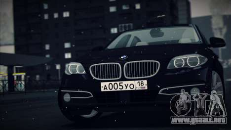 BMW 535i F10 para GTA San Andreas left