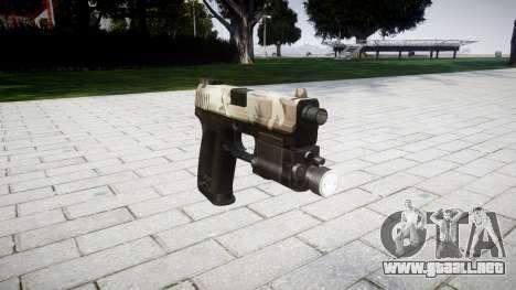 La pistola HK USP 45 woodland para GTA 4