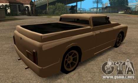 Beta Slamvan para GTA San Andreas vista posterior izquierda
