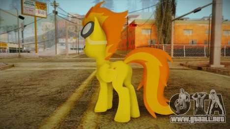 Spitfire from My Little Pony para GTA San Andreas segunda pantalla