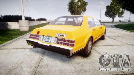 Albany Esperanto Taxi para GTA 4 Vista posterior izquierda