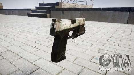 La pistola HK USP 45 woodland para GTA 4 segundos de pantalla