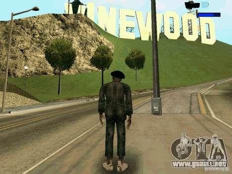 Cкин Benito из Stalker para GTA San Andreas segunda pantalla