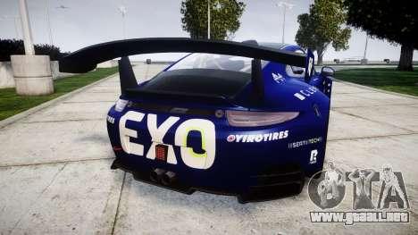 RUF RGT-8 GT3 [RIV] EXO para GTA 4 Vista posterior izquierda