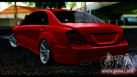 Mercedes-Benz S70 W221 para GTA San Andreas left