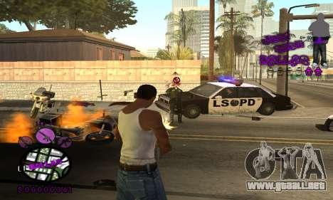 C-HUD Ballas para GTA San Andreas tercera pantalla