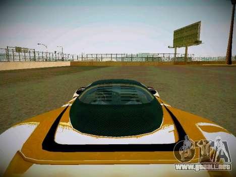 Cheetah из GTA 5 para GTA San Andreas vista hacia atrás