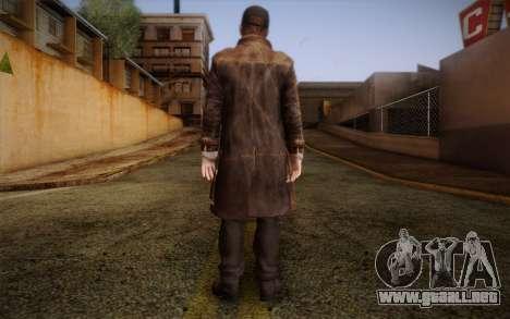 Aiden Pearce from Watch Dogs v10 para GTA San Andreas segunda pantalla