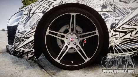 Audi R8 plus 2013 HRE rims Sharpie para GTA 4 vista hacia atrás
