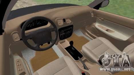 Daewoo Nubira me Vagón CDX NOSOTROS 1999 para vista inferior GTA San Andreas