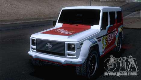 GTA 5 Benefactor Dubsta para visión interna GTA San Andreas