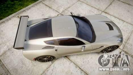Chevrolet Corvette C7 2014 Tuning para GTA 4 visión correcta