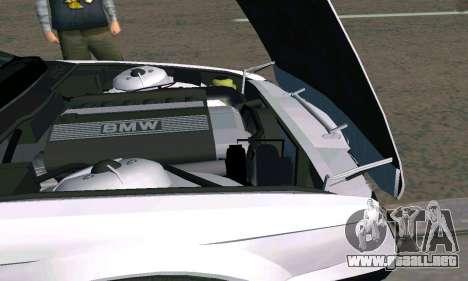 BMW 525 Turbo para GTA San Andreas vista hacia atrás