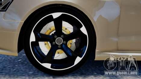 Audi RS4 B8 2013 v1 para GTA 4 Vista posterior izquierda
