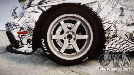 Ford Mustang Shelby GT500 2013 Sharpie para GTA 4 vista hacia atrás