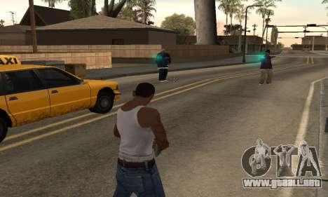 Turquesa efectos para GTA San Andreas segunda pantalla