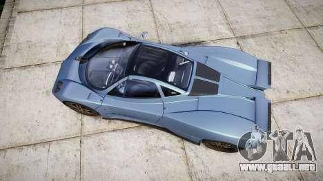 Pagani Zonda C12 S 7.3 2002 PJ1 para GTA 4 visión correcta
