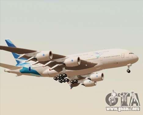 Airbus A380-800 Garuda Indonesia para la visión correcta GTA San Andreas