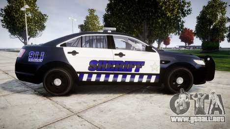 Ford Taurus 2014 Sheriff [ELS] para GTA 4 left