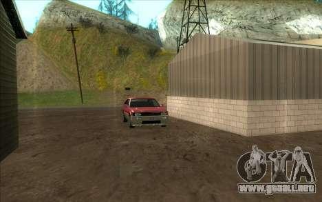 Carretera de garaje de Sigea para GTA San Andreas sucesivamente de pantalla