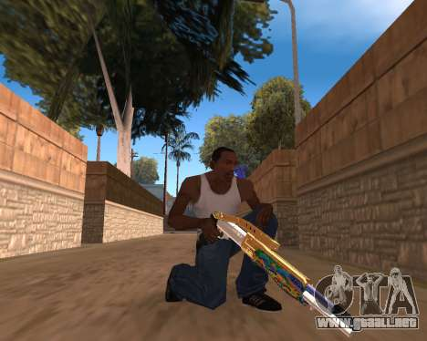 Graffity Weapons para GTA San Andreas