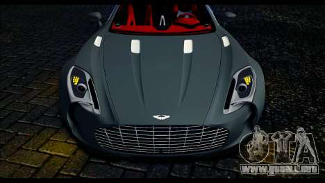 Aston Martin One-77 Red and Black para GTA San Andreas vista posterior izquierda