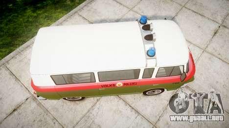 Barkas B1000 1961 Police para GTA 4 visión correcta