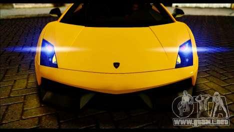 Lamborghini Gallardo LP 570-4 para GTA San Andreas vista posterior izquierda