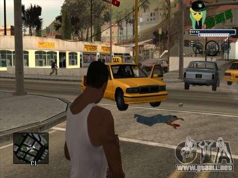 C-HUD Grove Street Gang para GTA San Andreas segunda pantalla