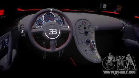 Bugatti Veyron 16.4 SS [EPM] Halloween Special para GTA 4 vista interior