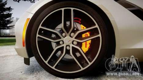 Chevrolet Corvette C7 2014 Tuning para GTA 4 vista hacia atrás