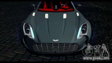 Aston Martin One-77 Red and Black para la visión correcta GTA San Andreas