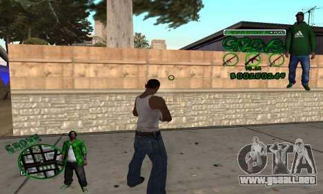 C-HUD Groove para GTA San Andreas tercera pantalla